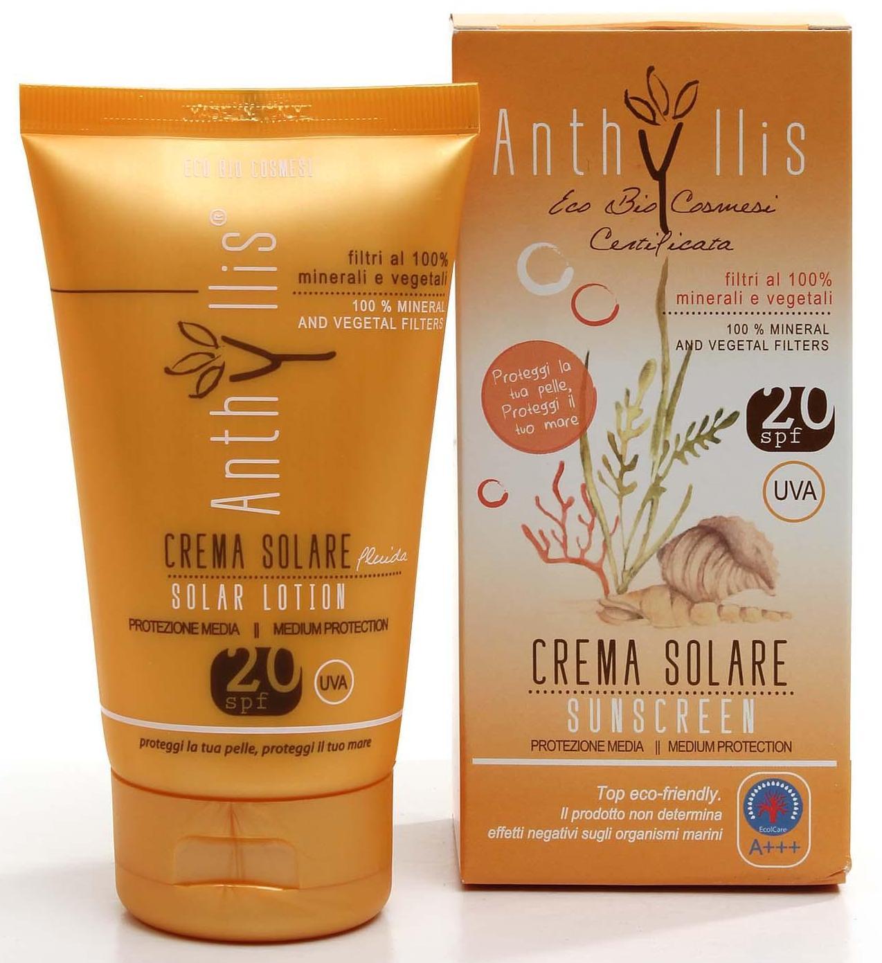 Crema fluida bio protectie solara SPF20+ Anthyllis 125ml