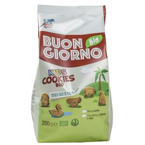 Biscuiti BuongiornoBio Kids din spelta cu orez (produs vegan) 350g