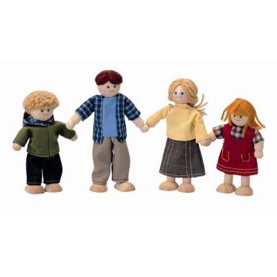 Familie de papusi Plan Toys