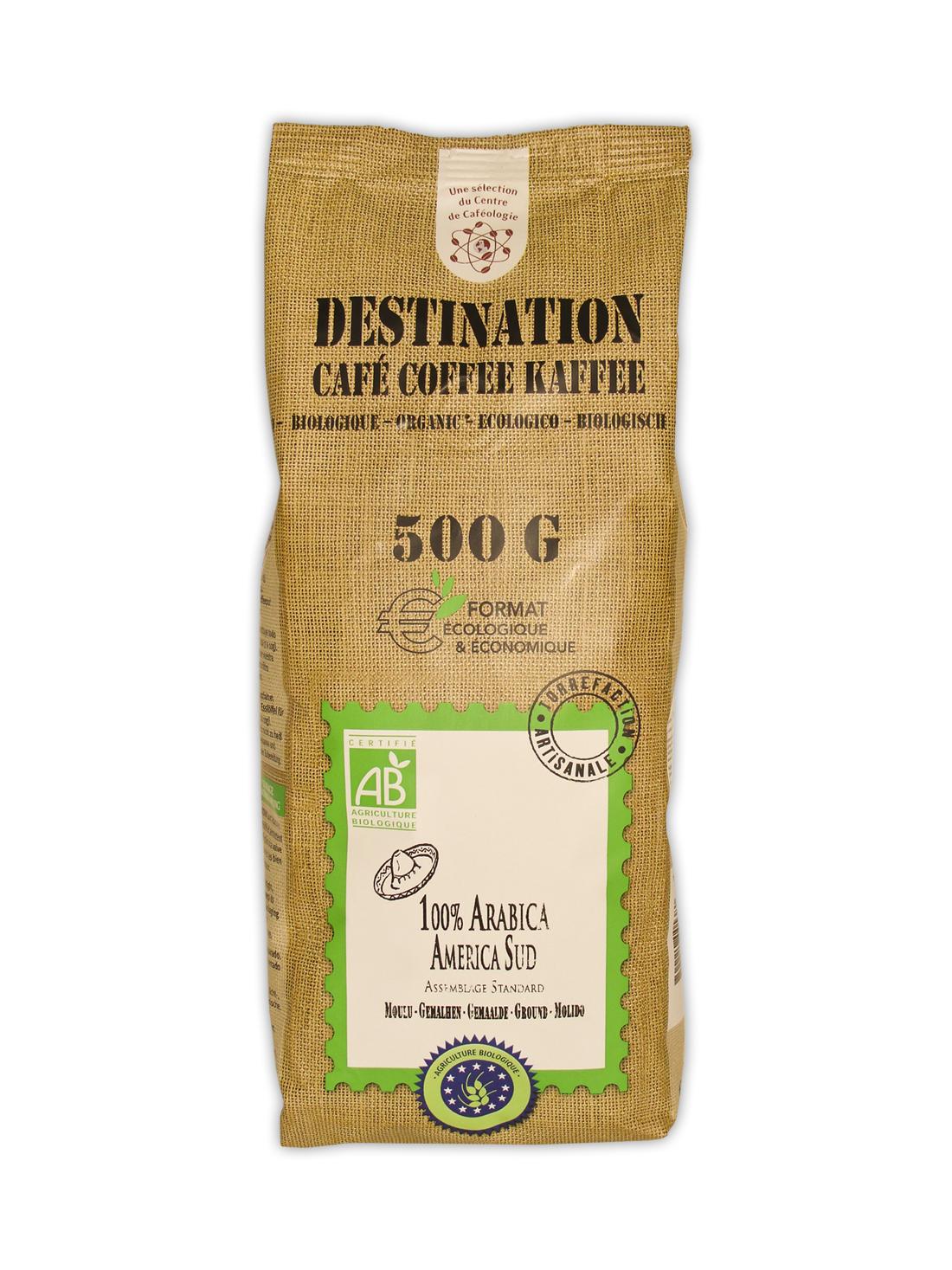 Cafea bio Destination America de Sud macinata