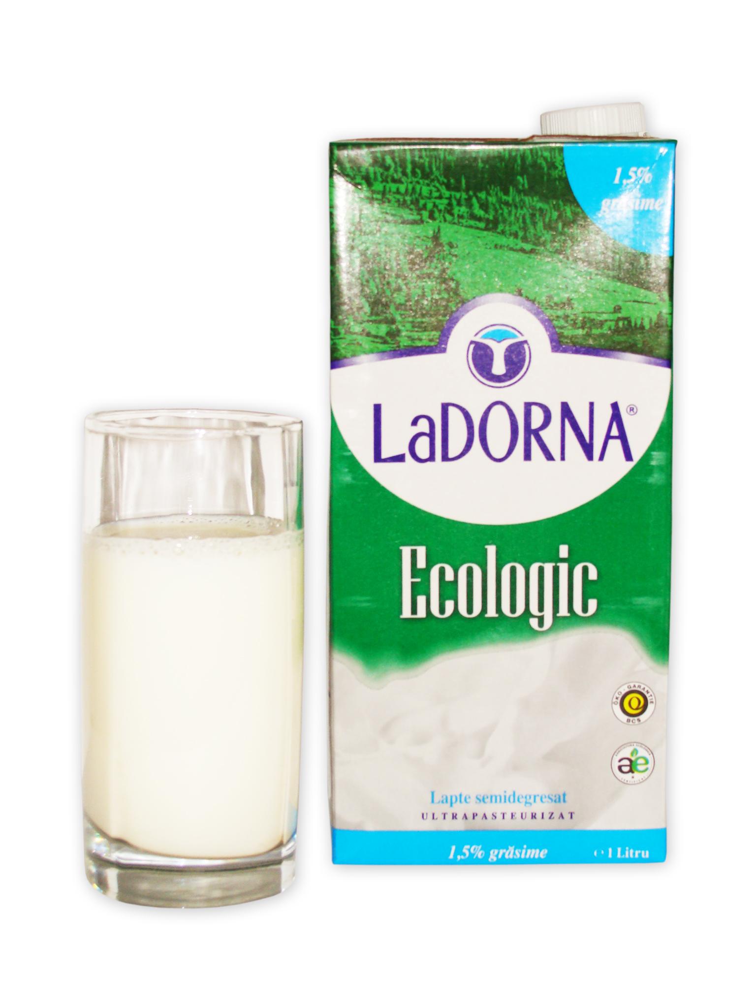 Lapte bio LaDorna 1,5%