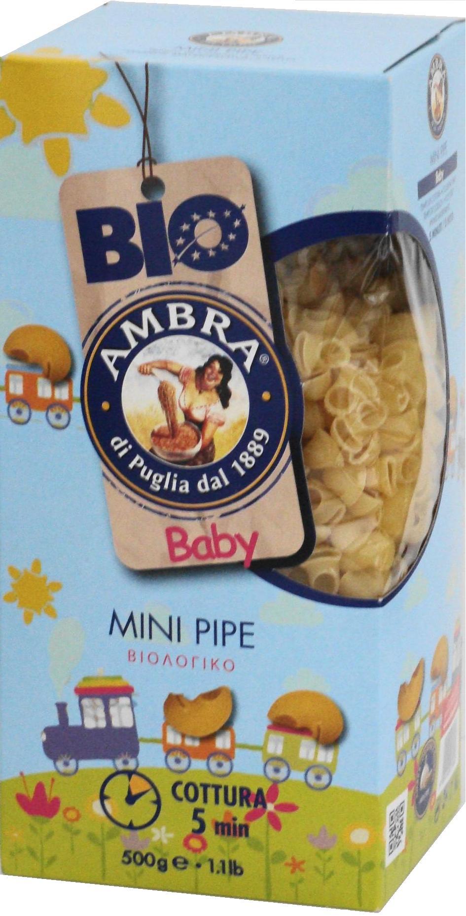 Paste bio pentru copii Mini Pipe 500g