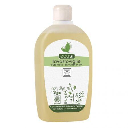 Detergent solutie Eco pentru masina de spalat vase, cu menta si eucalipt, Ecosi 500 ml