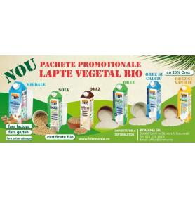 Acum, laptele vegetal bio la pachete promotionale