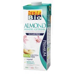 Cel mai nou produs din gama de lapte vegetal Isola Bio: Bautura bio de migdale neindulcita 1l (fara gluten, fara lactoza, fara zahar)