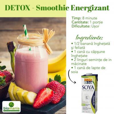 Smoothie energizant cu lapte de soia