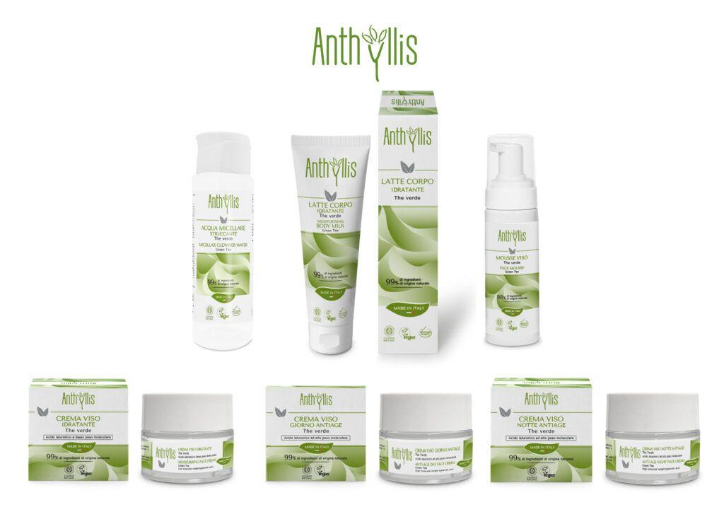 Noua gama de cosmetice Anthyllis cu Ceai Verde, certificata COSMOS NATURAL