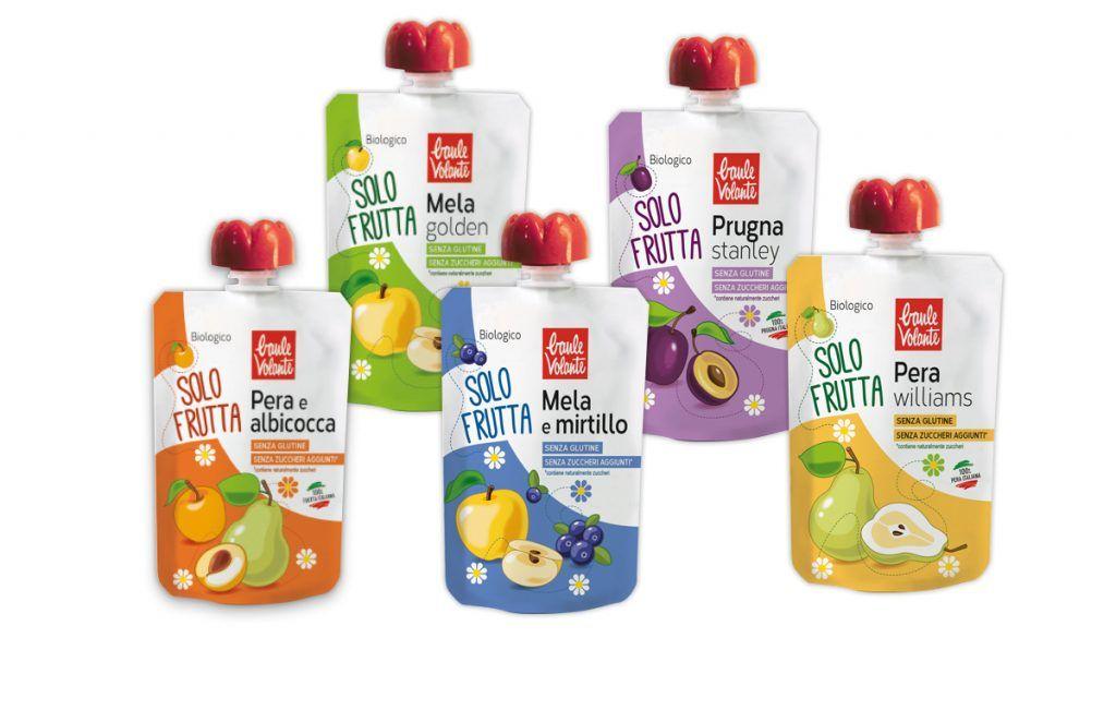 Piure bio din 100% fruct, fara zahar adaugat si fara gluten