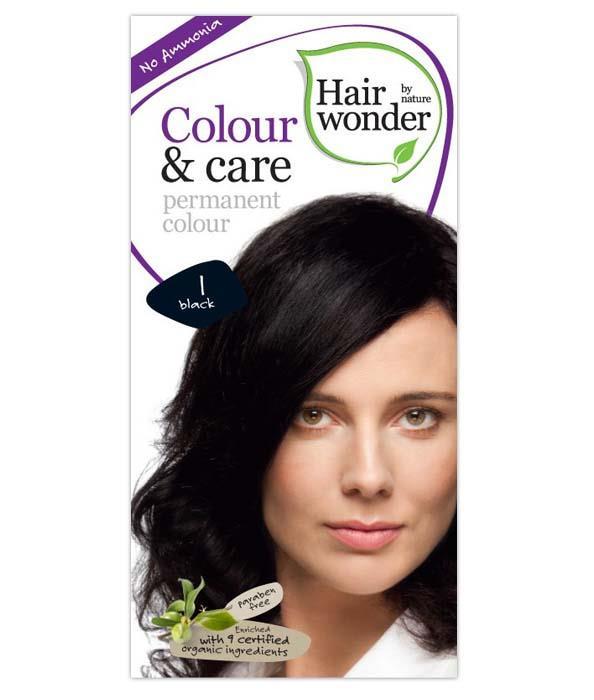 Vopsea permanenta fara amoniac Colour & Care – 1 Black, 100 ml