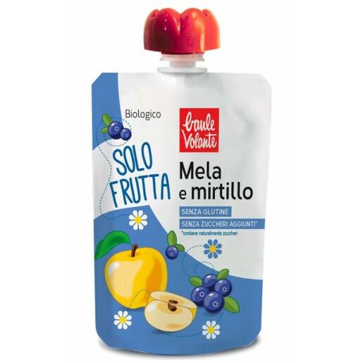 Piure bio de mere si afine, fara gluten, fara zahar adaugat, Fior di Loto 100g
