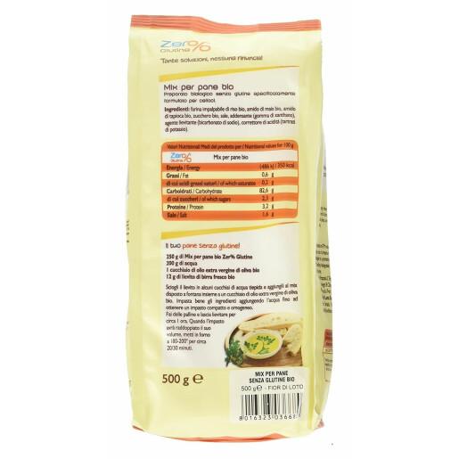 Mix bio pentru paine, fara gluten, Fior di Loto 500g