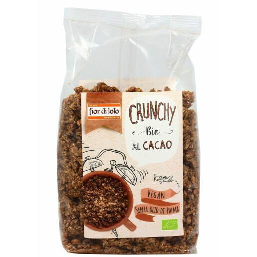 Musli bio crocant cu fulgi de ovaz cu cacao fara ulei de palmier, vegan, Fior di Loto 375g