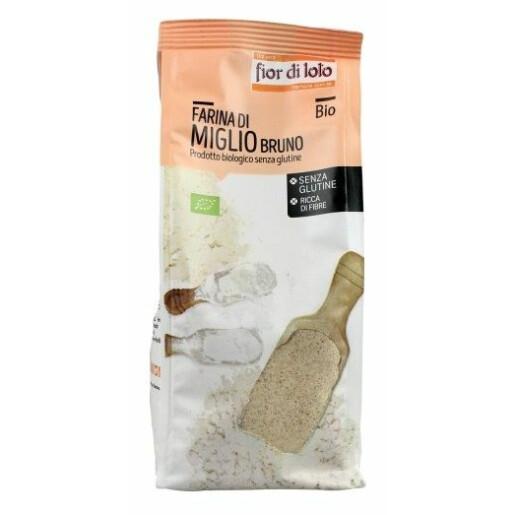 Faina de Mei brun bio, fara gluten, Fior di Loto 375g