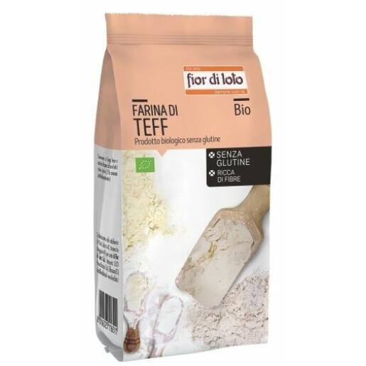Faina de Teff bio, fara gluten, Fior di Loto 375g