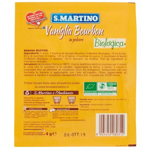 Vanilie Bourbon bio fără gluten 2 plicuri, 4g. BioSun S.Martino