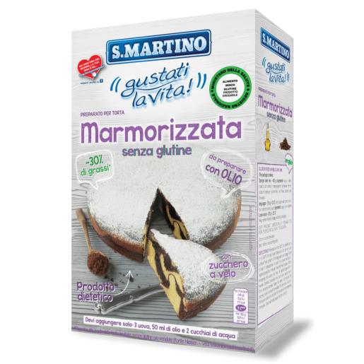 Mix pentru prăjitura marmorata fără gluten, S.Martino, 445g
