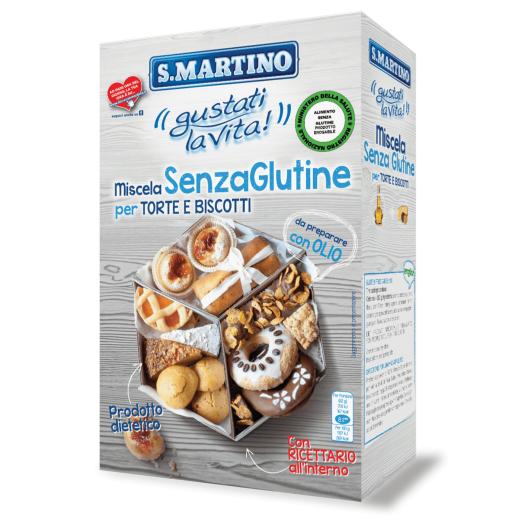 Mix pentru prăjituri si biscuiti fără gluten, S.Martino, 380g