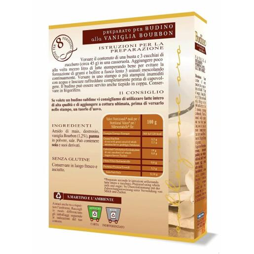 Preparat pentru Budinca de vanilie Bourbon fără gluten, fara arome, fara coloranti (8 portii), S.Martino, 70g