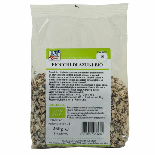 Fulgi bio de fasole azuki 250g
