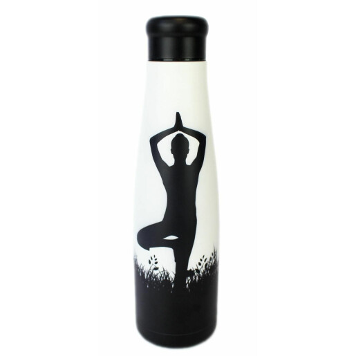 Sticlă termoizolantă din otel inoxidabil, model yoga 550ml