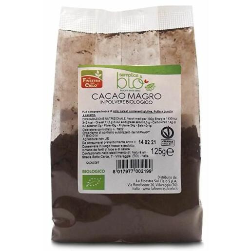 Cacao pudra degresata bio 125g (produs vegan)