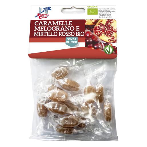 Bomboane bio cu rodie si coacaze rosii (fara gluten, vegan) 50g