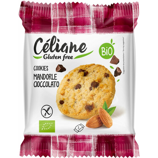 Cookies bio cu migdale si ciocolata (fara gluten) 50g Céliane