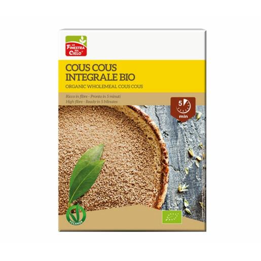 Cous cous bio din grau integral (produs vegan) 500g