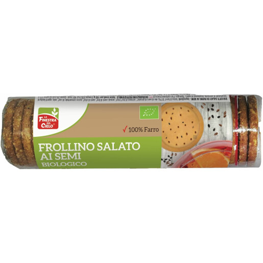 Biscuiti bio sarati FrolIino din spelta, cu seminte 250 g