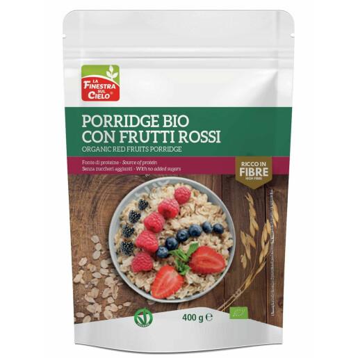 Porridge bio cu fructe rosii (vegan) 400g