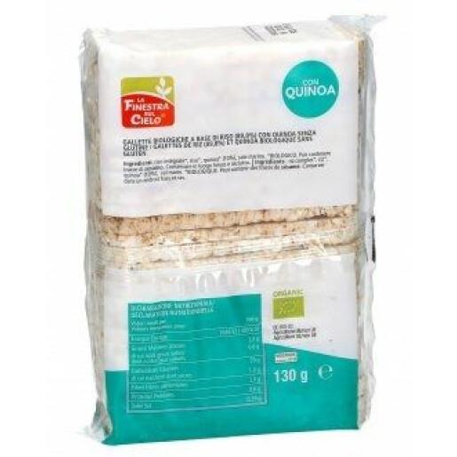 Rondele (Galete) bio din orez integral cu quinoa 130g (fara gluten, vegan)
