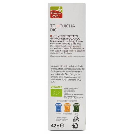 Ceai verde Bio Hojicha (Bancha) Uji, vegan, 25 plicuri, La Finestra Sul Cielo, 42g.