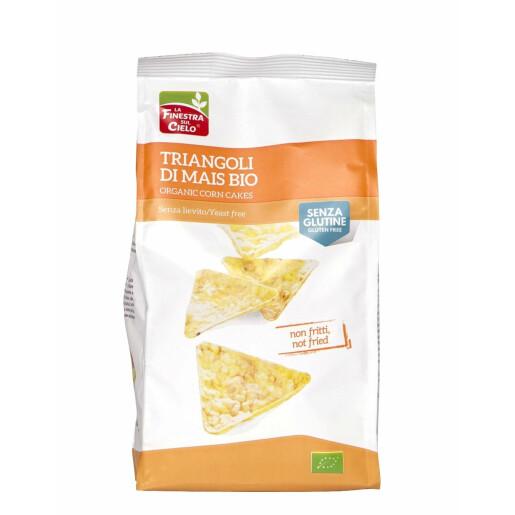 Snack bio triunghiular din porumb, fara gluten, fara drojdie, La Finestra Sul Cielo 100g