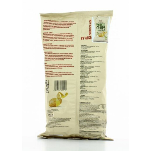 Chips bio din cartofi (cu sare) 125g