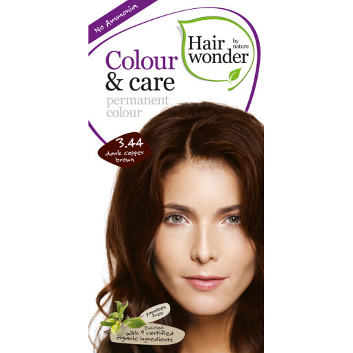 Vopsea permanenta fara amoniac Colour & Care - 3.44 Dark Copper Brown