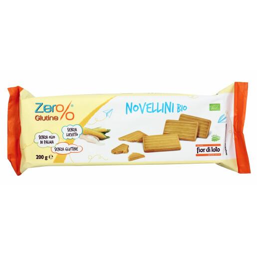 Biscuiti Novellini bio fara gluten, fara drojdie, fara ulei de palmier, Fior di Loto 200g