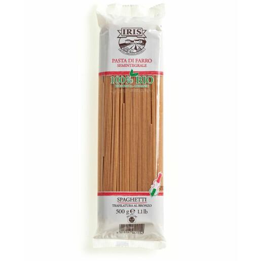 Paste bio Spaghete din spelta semi-integrala 500G IRIS