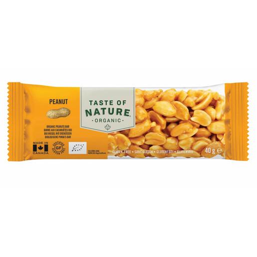 Baton bio cu arahide Taste of Nature 40g (vegan, fara gluten)