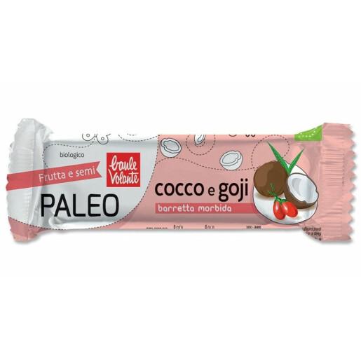 Baton bio Paleo nuca de cocos si goji, Baule Volante 30g