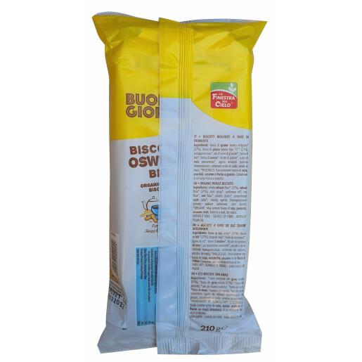 Biscuiti BuongiornoBio Oswego din grau, fara lapte, vegan, La Finestra Sul Cielo 210g