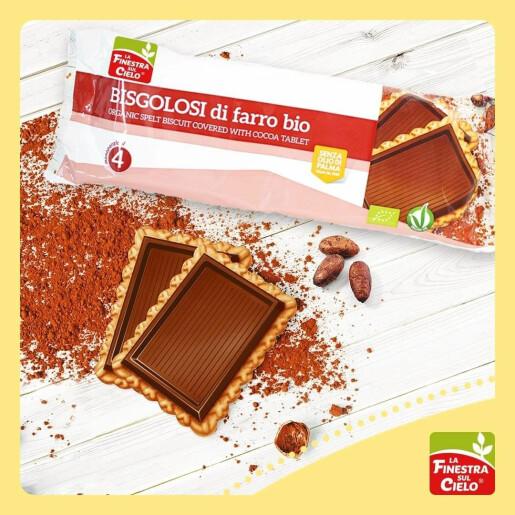 Biscuiti bio din spelta si ciocolata 112g (produs vegan)