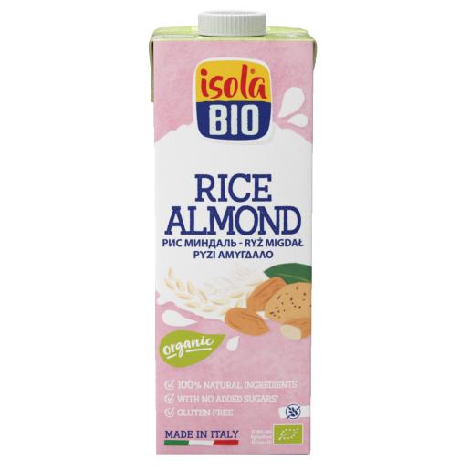 Bautura bio din orez cu migdale Isola Bio 1L (fara gluten, fara lactoza)