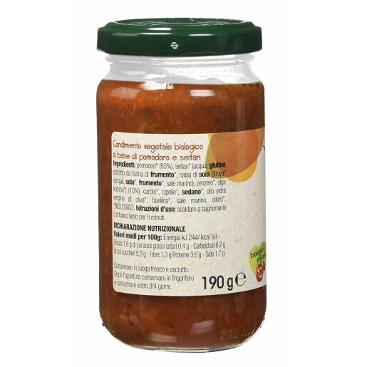 Sos ragu vegetal bio cu seitan, Vivibio, 190g
