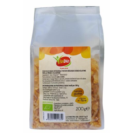 Fulgi de porumb integral bio (fara gluten) 200g