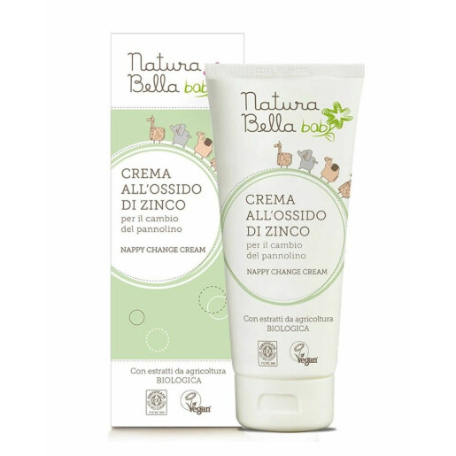Crema pentru iritatia de scutec, cu oxid de zinc vegan, Natura Bella Baby 100ml