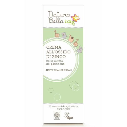 Crema pentru iritatia de scutec, cu oxid de zinc, vegan, Natura Bella Baby 100ml