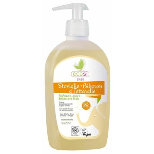 Detergent solutie ECO BIO pentru vesela, biberoane  Ecosi Baby (vegan) 500ml