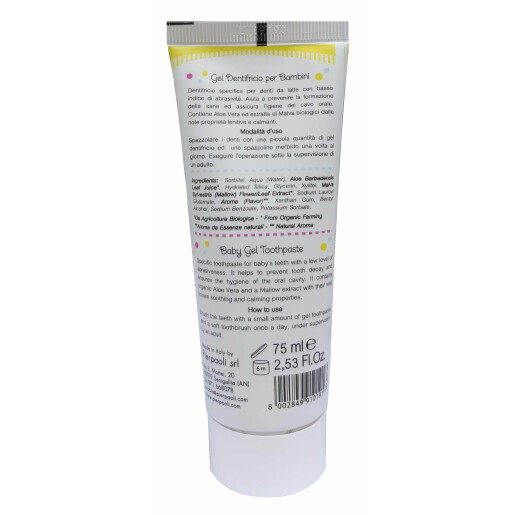Gel de dinti pentru copii cu gust de capsune Baby Anthyllis ECO BIO 75ml