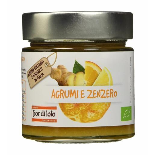 Gem bio de citrice cu ghimbir, Fior di Loto 250g