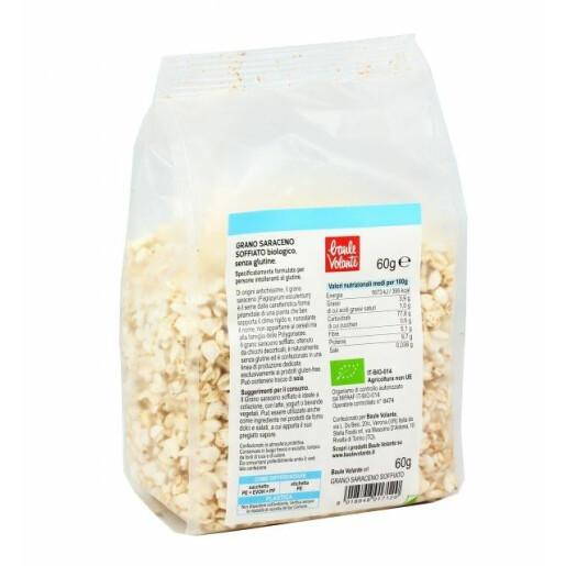 Hrisca bio expandata, fara gluten, Baule Volante 60g